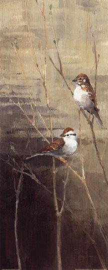 Sparrows at Dusk II