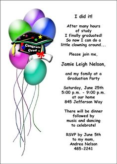 99 best graduation party open house invitations images on pinterest customize your unique party invite designs for home school graduation at cardsshoppe filmwisefo