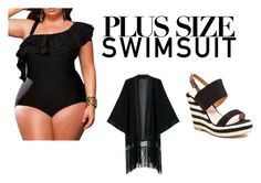 """Untitled #59"" by altrisa-mulla ❤ liked on Polyvore featuring French Blu, stylishcurves and plussizeswimsuit"