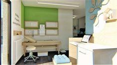 Διακόσμηση παιδιατρείου Σχεδιασμός - Διακόσμηση - Ανακαίνιση ιατρείων   Εξοπλισμός και επίπλωση ιατρείου και φαρμακείων   Design ιατρείων Corner Desk, Loft, Furniture, Home Decor, Corner Table, Lofts, Interior Design, Home Interior Design, Arredamento