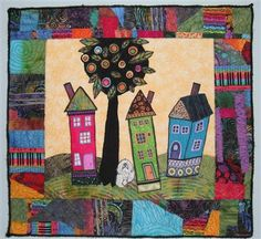 fiberart quilt by calna. posted on quilting arts website.