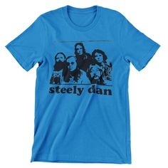 Steely Dan Group T Shirt Hand screen-printed Men's / Ladies / Fitted Donald Fagan / Jazz / Guitar / Blues by cottonpickincrazy on Etsy Willie Nelson T Shirts, Young T, Black Cow, Jazz Guitar, Quality T Shirts, Classic T Shirts, Long Sleeve Tees, Dan, Blues