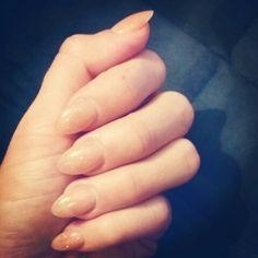 Short conservative stiletto nails