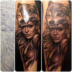 Sketch - Fresh - Healed by Eric Marcinizyn sketch tattoo tattoos Inked Inked Magazine ink