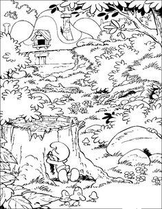 Kleurplaten Smurfen 2.30 Beste Afbeeldingen Van Kleurplaten De Smurfen Coloring Pages
