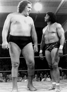 Andre The Giant & Jimmy Snuka    Jimmy The Superfly Snuka used to go to my church in UT