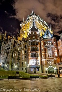 The Château Frontenac is a grand hotel in Quebec City, Quebec, Canada, which is operated as Fairmont Le Château Frontenac. It was designated a National Historic Site of Canada in 1980.