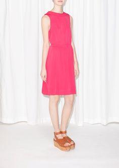& Other Stories   Pleated Neckline Dress