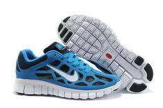 Blå Herrer Nike Free Run 3 Breathable Mesh Sko 31004