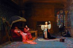 """Painting of the Day! Jehan Georges Vibert (1840-1902) """"The Fortune Teller"""", Oil on canvas. - To see more works by this artist please visit us at: http://www.artrenewal.org/pages/artist.php?artistid=134"""