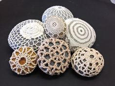 Inspiration! 20 Crochet Covered River Rocks and Other Stones