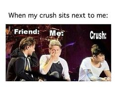 Find images and videos about funny, one direction and lol on We Heart It - the app to get lost in what you love. Funny Crush Memes, Crazy Funny Memes, Really Funny Memes, Stupid Memes, Funny Relatable Memes, Haha Funny, Funny Texts, Funny Jokes, One Direction Humor