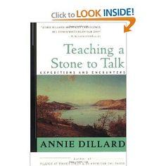 annie dillard teaching a stone to talk essay