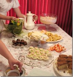 jane austen tea party or royal family baby shower