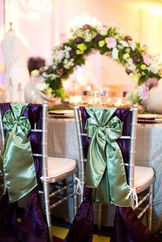 {A Crystal Clear Vision 2015} Linens: Waterford Event Rentals // Designer: Ellasins Events // Photographer: Chelsea Anderson