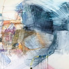 Artist Spotlight, No Room For Fear with Gretchen Warsen on Kellee Wynne Studios Blog. yupo watercolor ink pen graphite mixed media acrylic abstract art