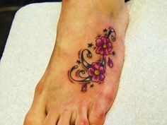 Small Foot Tattoos For Women | 25 Flower Tattoos On Foot You Should Look At - SloDive