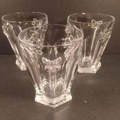3-Lenox-BUTTERFLY-MEADOW-Clear-Glass-Bee-Double-Old-Fashioned-Flawless