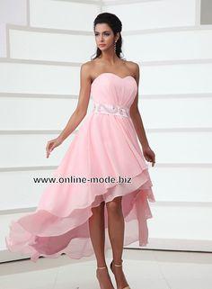 Rosa Vokuhila Abendkleid von www.online-mode.biz