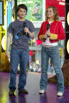 Emma Watson and Daniel Radcliffe at <i>TRL</i>.