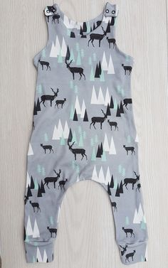 £14 Jersey unisex romper, baby toddler, baby jersey dungarees, deer mountain    harem romper, toddlers, dungaree, baby romper
