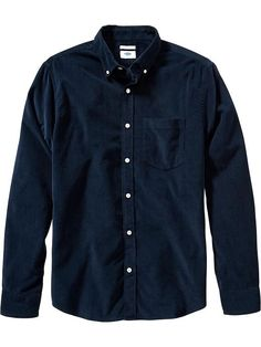 Old Navy Mens Slim Fit Cord Button Down Shirts Size XXL Tall - In the navy | 19% OFF