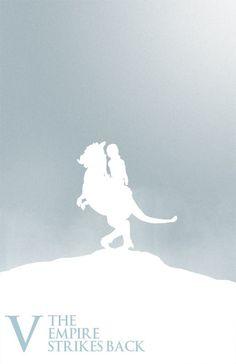 Empire Strikes Back Silhouette Poster
