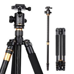 75.00$  Buy here - http://aliad2.worldwells.pw/go.php?t=32537772108 - Hot Professional Photographic Portable Q999 Tripod  Monopod/Ball Head For Digital DSLR Camera Max Loading 15Kg Free Shipping 75.00$