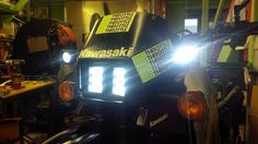 kawasaki klr 650 front headlight and search lights complete