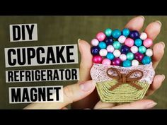 How to make a refrigerator magnet? In this tutorial we will show how to  create a very tasty cupcake magnet with beads! #diymagnet #cupcake #refrigeratormagnet