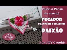 PAP Pegador de armário e geladeira de crochê PAIXÃO por JNY Crochê - YouTube