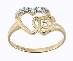 anillos de xv años de oro