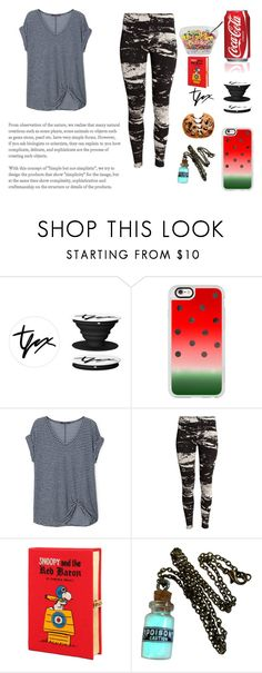 """bored af"" by cj34turtles on Polyvore featuring Casetify, Violeta by Mango, H&M, Nestlé and Olympia Le-Tan"