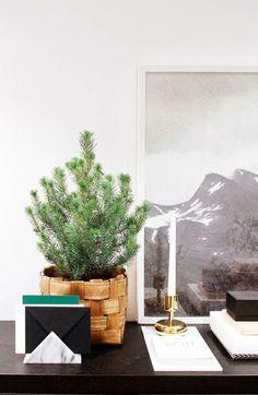 Decoración minimalista para la Navidad