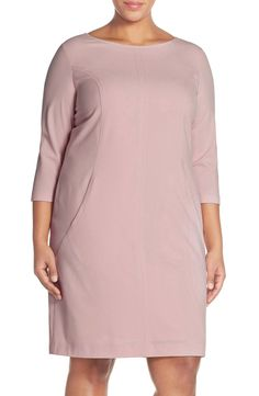 Adoring the soft, and settle color of this simple A-line dress.