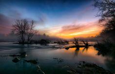 A foggy sunset on the Rappahannock River on Thursday. (Theresa Rasmussen via Flickr)