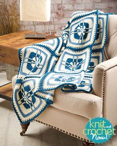 Free Blueberry Parfait Afghan Crochet Pattern Download -- Designed by Tanis Galik. Featured in Season 5, episode 501, of Knit and Crochet Now! TV. Download here: http://www.knitandcrochetnow.com/blueberry-parfait-afghanknit-and-crochet-now-season-5-episode-501/