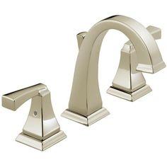 Delta Faucet D3551LFPN Dryden 8'' Widespread Bathroom Faucet - Brilliance Polished Nickel