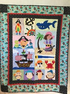 Anne made this from Amy Bradley Designs Pirates for Boys & Girls quilt pattern Girls Quilts, Pirates, Quilt Patterns, Boy Or Girl, Amy, Applique, Kids Rugs, Blanket, Design