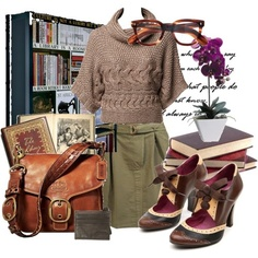 Librarian Chic - Outfit - Fall - Winter