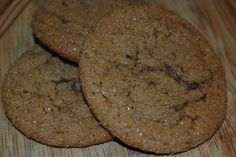 Chewy Molasses Spice Cookies - I chopped up some candied ginger and added it (about 3 Tbsp).  Really delicious and chewy!