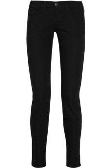 Current/Elliott - The Zip Flare mid-rise skinny jeans Denim Jeans, Black Jeans, Tailored Jacket, Mid Rise Skinny Jeans, Black Pumps, Stretch Denim, Flare, Zip, Cravings