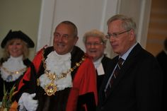 The Duke of Gloucester also visited Huntingdon Town Hall