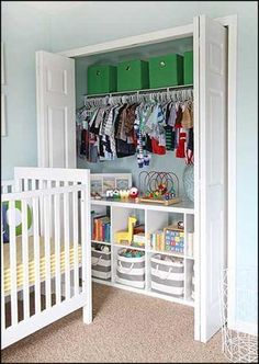 Excellent tips to make store for baby's clothes by baby closet organization ideas baby closet organization ideas organized nursery closet! KDFWWYA:separator:Excellent tips to make store for baby's clothes by baby closet organization ideas Baby Boy Rooms, Baby Boy Nurseries, Kids Rooms, Baby Nursery Ideas For Boy, Nursery Room Ideas, Toddler Boy Room Ideas, Toddler And Baby Room, Budget Nursery, Boy Toddler Bedroom
