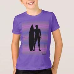 HAMbWG -  T Shirt -  Purple Gradients Surfer - kids kid child gift idea diy personalize design