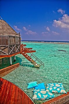 Maldives, Indian Ocean. We wouldn't mind reading a book there, either...
