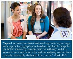 OW; Sister missionaries must have the same authority as the elders.