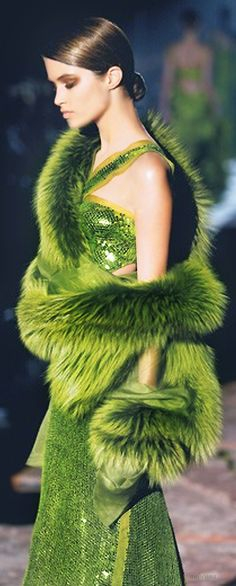 GUCCI | The House of Beccaria #  I just hope it's fake fur.....don't use animals  for vain human purposes.....fashion is vain...in and end of the world event ....we wouldn't be running around with fur....or maybe we would...?  interesting thought