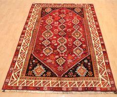 Orientteppich handgefertigt Qashghai schön Teppich 243 x 157 cm carpet