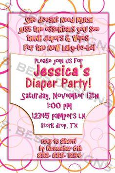 Diaper Party Invitation. What a cute idea for repeat moms!                                                                                                                                                                                 More